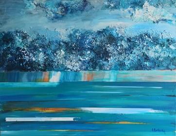 Obraz do salonu artysty Izabela Rudzka pod tytułem Chmury i burza