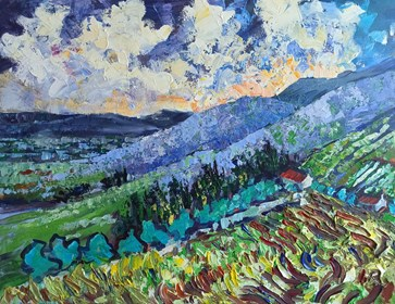 Obraz do salonu artysty Izabela Rudzka pod tytułem mój van Gogh 2020