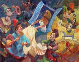 Obraz do salonu artysty Tomasz Bachanek pod tytułem Pod oknem