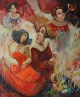 Obraz do salonu artysty Tomasz Bachanek pod tytułem Atrakcyjne toasty zawsze pożądane II