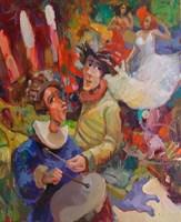 Obraz do salonu artysty Tomasz Bachanek pod tytułem Nieodzowna pomoc