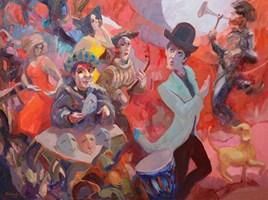 Obraz do salonu artysty Tomasz Bachanek pod tytułem Narada tajnej rady