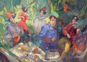 Obraz do salonu artysty Tomasz Bachanek pod tytułem Próba generalna
