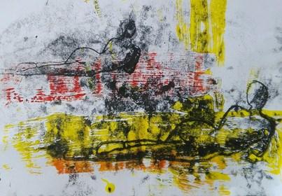 Grafika do salonu artysty Katarzyna Klimek pod tytułem Oni