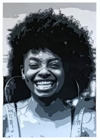 Obraz do salonu artysty Jakub Osiak pod tytułem Afro girl 3D