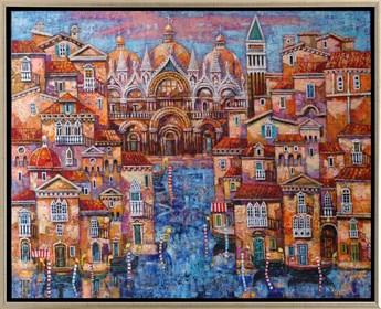 Obraz do salonu artysty Maciej Urbaniak pod tytułem Pocztówka z Wenecji