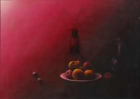 Living room painting by Włodzimierz Terechowicz titled Still nature