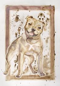 Obraz do salonu artysty Marta Horodniczy pod tytułem Pobawmy się. Pies