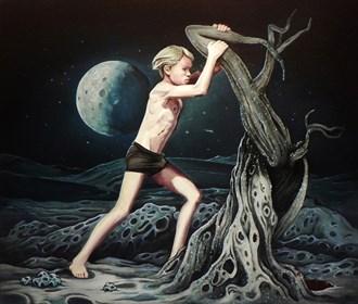 Obraz do salonu artysty Maciej Rauch pod tytułem Lunar Boy (Episode II)