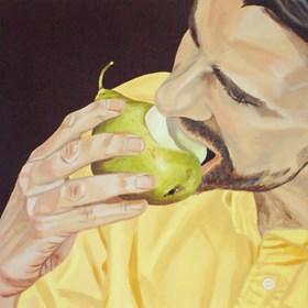 Obraz do salonu artysty Anna Franczuk pod tytułem Mężczyzna z gruszką