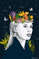 Grafika do salonu artysty Klaudia Leclercq pod tytułem Lose your mind