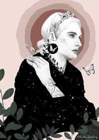 Grafika do salonu artysty Klaudia Leclercq pod tytułem Madonna