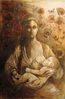 Obraz do salonu artysty Vasyl  Netsko pod tytułem Modlitwa Matki