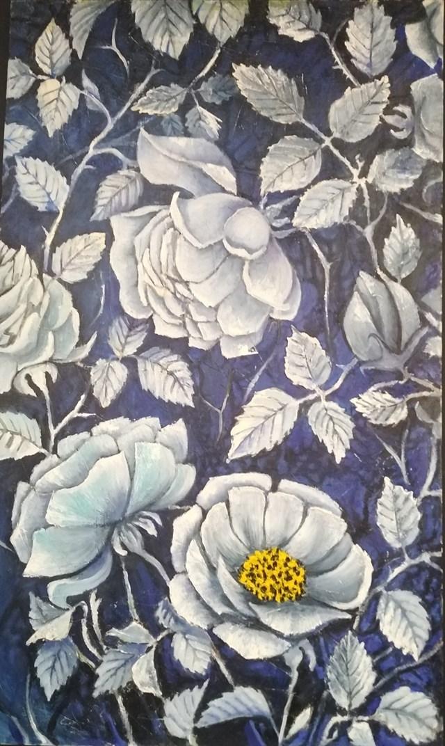 Obraz do salonu artysty Vasyl Netsko pod tytułem Róży w granacie