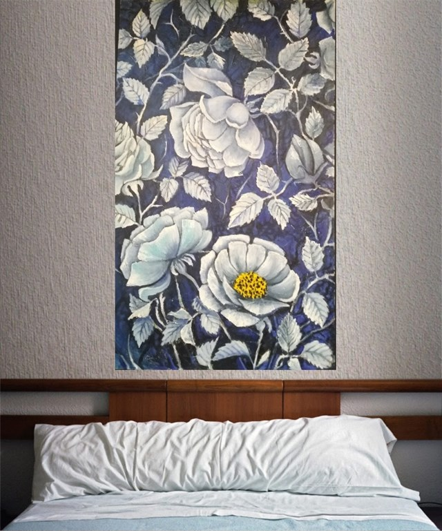 Róży w granacie - wizualizacja pracy autora Vasyl Netsko