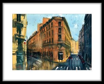 Obraz do salonu artysty Mariusz Kula pod tytułem Paryż 3
