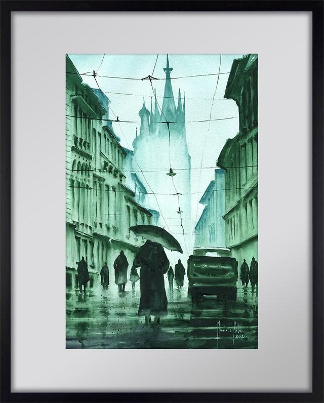 Obraz do salonu artysty Mariusz Kula pod tytułem Dawny Kraków