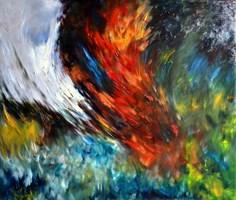 Obraz do salonu artysty Adam  Rutkowski pod tytułem Z cyklu: Kosmiczne płótna - P5