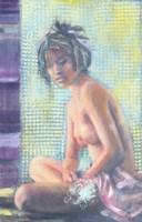 Obraz do salonu artysty Maria  Adamus-Biskupska pod tytułem Akt Z Gałązką II