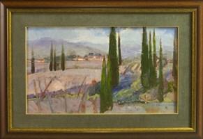 Obraz do salonu artysty Stanisław  Chomiczewski pod tytułem Pejzaż z Toskanii
