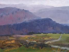 Obraz do salonu artysty Stanisław  Chomiczewski pod tytułem Pejzaż Górski W Fioletach II