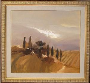 Obraz do salonu artysty Marian Danielewicz pod tytułem Toskania