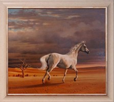 Obraz do salonu artysty Zbigniew  Kotowski pod tytułem Biały Koń