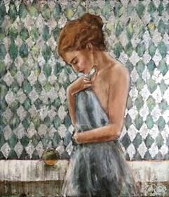 Obraz do salonu artysty Monika Krzakiewicz pod tytułem Zawoalowana