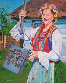 Obraz do salonu artysty Sławomir Gębczyński pod tytułem Poranna Marzanna