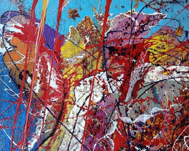 Obraz do salonu artysty Czesław Romanowski pod tytułem Z cyklu hommage fur Pollock