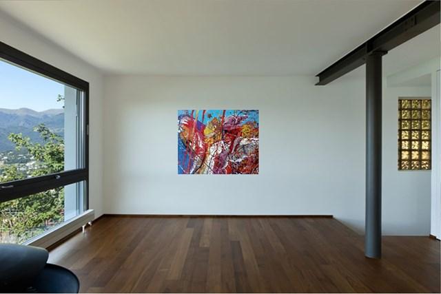 Z cyklu hommage fur Pollock - wizualizacja pracy autora Czesław Romanowski
