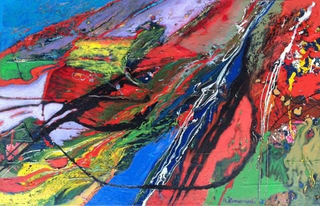 Obraz do salonu artysty Czesław Romanowski pod tytułem Przebicie