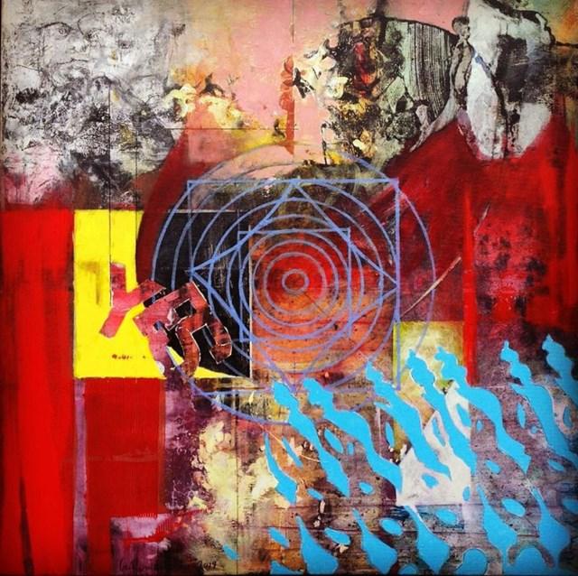 Obraz do salonu artysty Czesław Romanowski pod tytułem 9 wymiarów