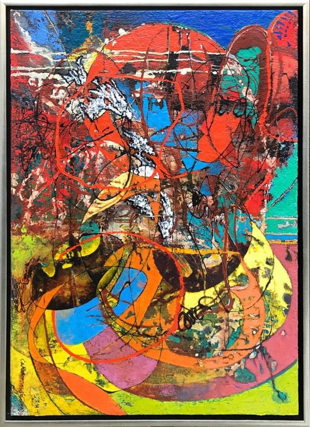 Obraz do salonu artysty Czesław Romanowski pod tytułem Linotia robota