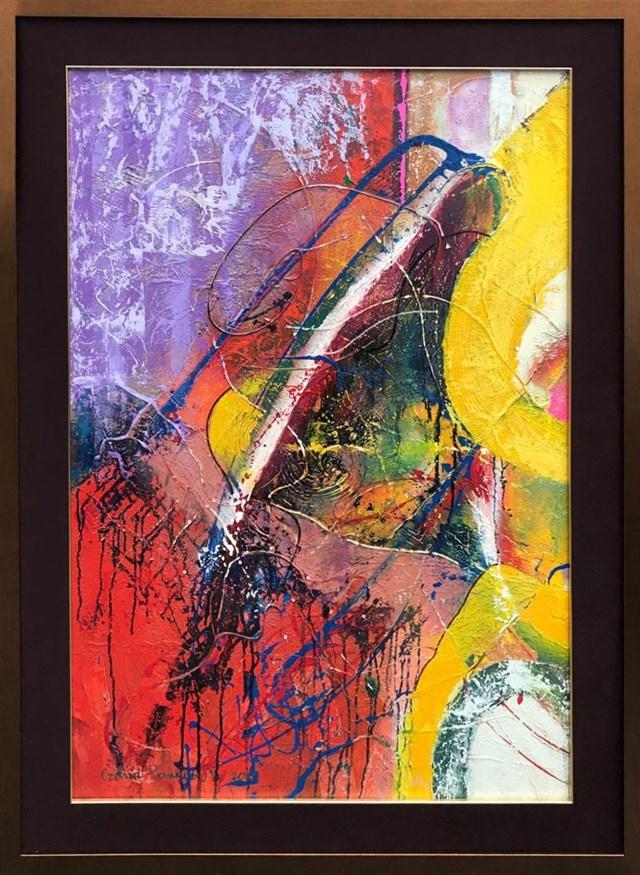 Obraz do salonu artysty Czesław Romanowski pod tytułem Wydruk II dyptyk 2