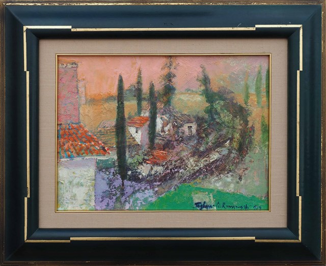Obraz do salonu artysty Czesław Romanowski pod tytułem Toskania