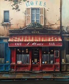 Obraz do salonu artysty Jan Stokfisz Delarue pod tytułem Cafe L'Alsace