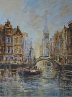 Obraz do salonu artysty Henryk  Włoch pod tytułem Amsterdam Kanał IV