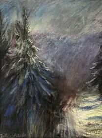 Obraz do salonu artysty Agnieszka Słowik-Kwiatkowska pod tytułem Świerk zimą