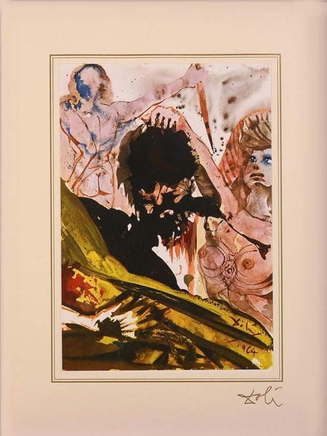 "Grafika do salonu artysty Salvador Dali pod tytułem Mark 6; 27 - 28 z teki ""40 Paintings of the Bible"""