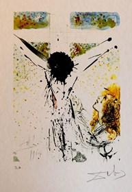Grafika do salonu artysty Salvador Dali pod tytułem Litografia barwna E.A., sygnowana I