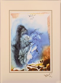 """Living room print by Salvador Dali titled Genesis 1; 1, 24 - 25  """"40 Paintings of the Bible"""""""