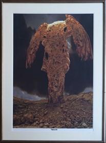 Grafika do salonu artysty Zdzisław Beksiński pod tytułem Skała