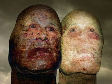 Grafika do salonu artysty Zdzisław Beksiński pod tytułem Bez tytułu 3