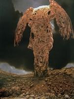 Grafika do salonu artysty Zdzisław Beksiński pod tytułem Bez tytułu 8