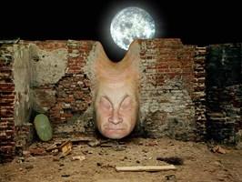 Grafika do salonu artysty Zdzisław Beksiński pod tytułem Bez tytułu 12