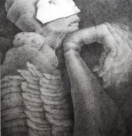 Grafika do salonu artysty Justyna Gajda pod tytułem Birdy