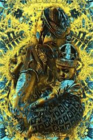 Grafika do salonu artysty Tymoteusz Zeman pod tytułem Africanian