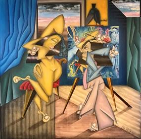 Obraz do salonu artysty Robert Jadczak pod tytułem Bella in paradise