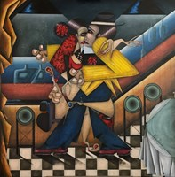 Obraz do salonu artysty Robert Jadczak pod tytułem La Comparsita  Tango Bar